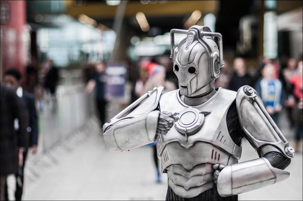London ExCel - Doctor Who Celebration - BBC - Cyberman performance